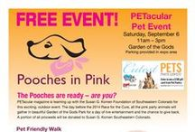 Local Pet Events/Businesses / Find out out all of the fun pet events around town and the wonderful businesses that sponsor them! / by PETacular Magazine