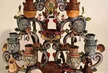 POTTERY - SKVOSTY Z HLÍNY / Hrnčířské zboží=keramika=majolika=fajáns