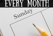 Organisieren und Plane / Haushalt und Leben gut durchorganisieren