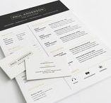 Resume template / A great collection of free & premium Resume CV design from various marketplace