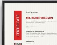 Certificate Design / A collection of printable certificate design from various online marketplace.