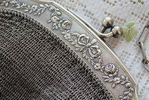 Beaded &silver purses