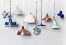 Lighting / Modern industrial lighting for loft and warehouse living and interior design inspiration, from cage lights to desk lamps, wall lights to ceiling pendants.
