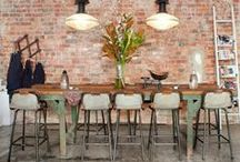 Tables / Unique industrial, reclaimed and bespoke dining tables and coffee tables. Interior design inspiration for warehouse homes and loft apartments.