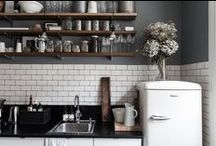 Kitchen Furniture and Accessories / Industrial lighting, appliances and worktops: kitchen decor and interior design inspiration gallery for warehouse homes and loft living.