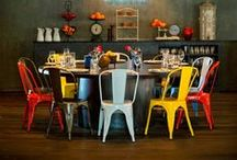 Chairs and Stools / Interior design and home decor inspiration for your warehouse home or loft apartment, from industrial stools to vintage school chairs.