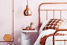 Top Trend: Copper / Home decor and accessories with copper, a hot interiors trend and Dulux's colour of the year 2015. Interior design inspiration for warehouse homes and loft living.