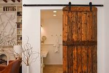 Statement Doors / Interior design and home decor inspiration for loft apartments or warehouse homes: industrial, sliding and barn doors.