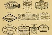 Vintage Labels / Vintage labels add authentic design detail to interior and furnishings of a warehouse home or loft apartment.