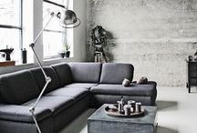 50 Shades of Grey / Interior design inspiration and ideas for  incorporating grey into minimalist warehouse and loft settings for dramatic and smart style.
