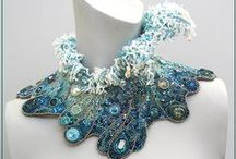 1 Bead Embroidered Necklaces