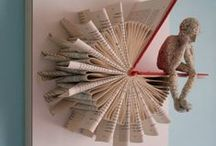 Book Art / Amazing art you can make with books!