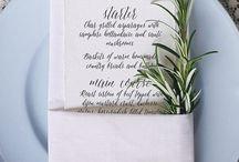 Reception Menu Ideas / Wedding reception dinner menu ideas and inspiration