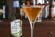 Angry Orchard Cocktails / Hard cider makes for a great ingredient for cocktails! This board is our collection of cocktails using Angry Orchard.