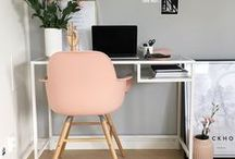 The Home Office / Create the ultimate work-life balance with these creative ideas for your home office.
