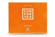CONDONES CONFORTEX NATURE / Condones Naturales La comodidad y seguridad del preservativo más natural. Condones fabricados con látex de caucho natural de alta calidad, fino, liso, transparente, lubricado sin aroma y forma anatómica con depósito.