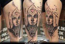 Portrait tattoos / Collection of my portrait tattoo works..  #GeorgeDrone #mixedmedia #alternative #artistic #abstract #abstractart #abstracttattoo #portraittattoo
