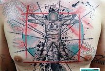 Abstract tattoos / Collection of my abstract works.. #GeorgeDrone #mixedmedia #alternative #artistic #abstract #abstractart #abstracttattoo