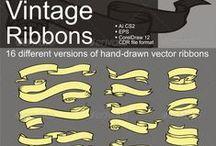 Ribbons / Şerit modelleri.