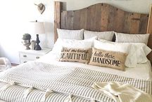 Farmhouse Beds / Rustic bed frame and headboard ideas