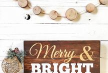 Holiday Signs / Handmade Holiday Themed Reclaimed Wood Signs