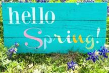Spring & Easter / Crafts and ideas for Spring and Easter.