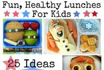 Lunch For Kids / Kid's love fun, colorful and exciting foods. Here are some great ideas for sandwiches, wraps, salads, fruit & veggies and fun snacks that your kids will love to eat.