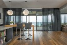 Sheer Beauty / Drape our sheers delicately across your windows to diffuse sunlight and soften your home. They let the daylight through your windows but provide privacy making them perfect to use in a layered window solution. Visit www.dollarcurtains.com.au for more.