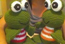 Háčkované hračky (crocheted toys)