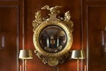 Mirror Mirror / Reflective surfaces add a touch of intrigue and elegance to any interior.  Our favorite mirrored pieces.
