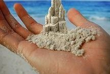 Sand sculpture / A sand sculpture is the adult, artistic version of the sand castle. It is a sculpture made ​​of sand and water that a person, scene or building trying to display.