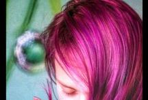 My hair / my pink and purple hair  -diy hair experimenting-