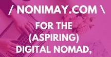 / NONIMAY.COM business, money + blog tips / / FROM THE TRAVEL, SMALL BUSINESS AND DIGITAL NOMAD BLOG: everything pinned from nonimay.com my digital nomad travel & work blog. All things money, travel, business and blogging related! Think PR, tips how to make more money, passive income, travel more and longer for cheaper, passive business etc.
