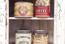 Old tins / Nostalgia old tea & coffee cans  and more...