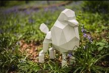 Paper Dogs / Papercraft dogs