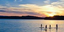Lake Love / The crystal clear aquamarine waters of Lake Blue Ridge make it one of Georgia's most picturesque mountain lakes. The 3,290-acre lake and surrounding area offer campsites, several boat ramps, a full-service marina and public swimming and picnic areas. #blueridgega
