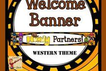 CG Western Theme / Ideas for teaching westward movement, western classroom theme