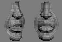 Topology Studies / Clean Topology, low poly meshes and Edge Loop examples for both organic and hard surface modelling