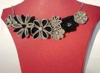 Coliere din textile / creatiile mele