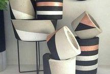 Beton - Cement creations / Beton decorations, planters #beton, #diy #cement