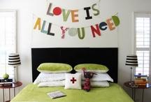 bunting and wall hangy thingies / by susan sobon/