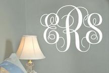 Wall Decals / Monogram decals are a BEST seller at Three Hip Chicks. Update any room in your home instantly with one of our personalized monogram decals. Choose your favorite design and customize with your size preference and colors to match your office, family room or bedroom décor. Our vinyl monogram decals add that finishing touch to complete any room makeover.