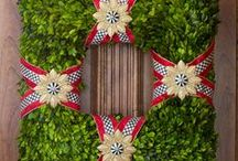 Wreaths / Wreaths and wreath-like things for the door / by Andrea Stieff