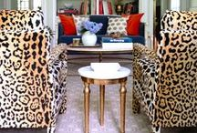 Animal Prints & Faux Fur / Get inspiration to spice up your home decor with a shot of animal print in leopard, zebra, giraffe, or tiger patterns! #Interiors #Decor #Animalprints