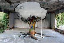 Street artwork / Artwork, street, 3D effect, art