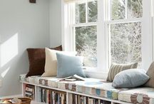 Reading nook / I LOVE to read. These are places I can enjoy my books