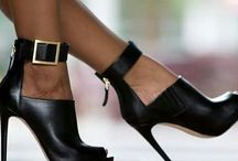 BLACK shoes and purses
