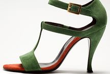 Green shoes and purses