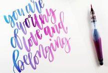 Lettering calligraphy / Caligrafía calligraphy tutorials plantillas