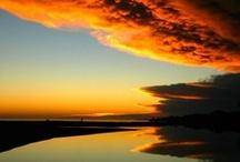 水と空と water and sky / collaboration of beautiful water surfaces and colorful skies